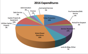 Chagrin Falls Budget Expenditures 2016