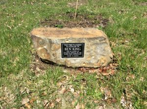 Ben King Memorial stone at Vincent Street Arboretum